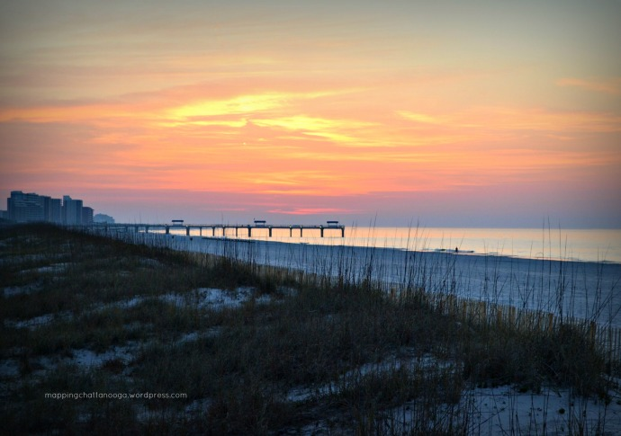 cloudy sunrise Orange Beach, AL